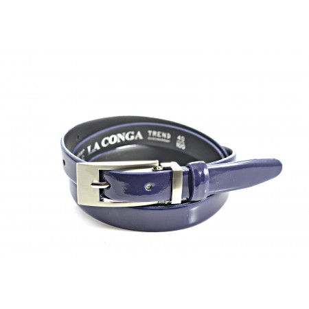 Ремень 20 мм лак  LCD-041-20 синий