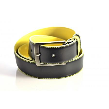 Ремень 35 мм M-049/1-35 Двухсторонний чёрный/жёлтый